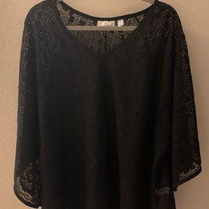 Avenue Lace Overshirt Tunic